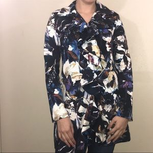 Cupio Waterfall Floral Cardigan with Butterflies